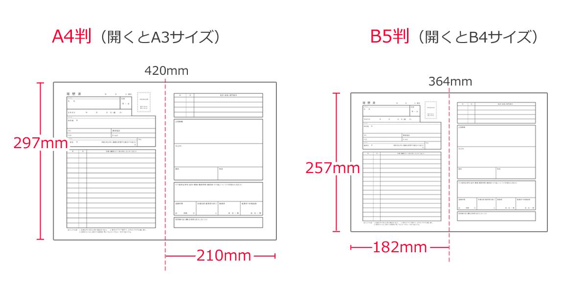 A4サイズ履歴書(210 × 297 ミリ ...